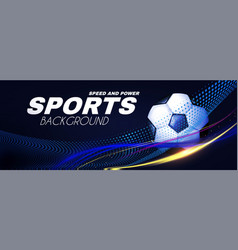 Soccer sport background 3d realistic ball vector