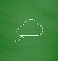 Speech bubble computer symbol vector image