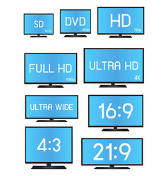 standard television resolution size vector image