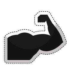 strong arm isolated icon vector image