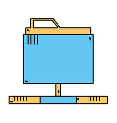 Technology data file folder server vector