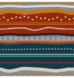 Tribal seamless texture with colored elements vector image vector image