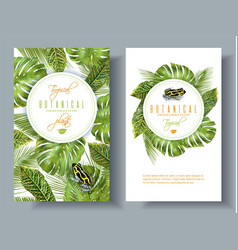 tropical vertical banners vector image