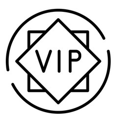 Vip sign icon outline style vector