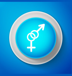 white gender icon symbols of men and women vector image