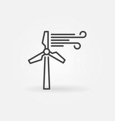 Wind turbine concept icon in thin line vector