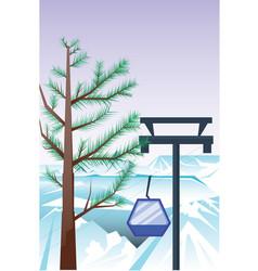 Winter holidays landscape vector