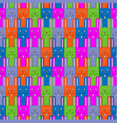 cute bunny pattern seamless background vector image