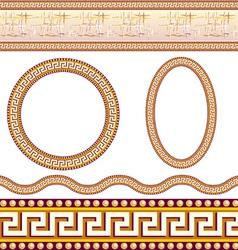 greek border patterns vector image