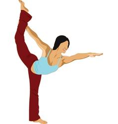 gymnast vector image vector image