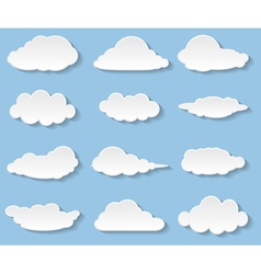 clouds set vector image vector image
