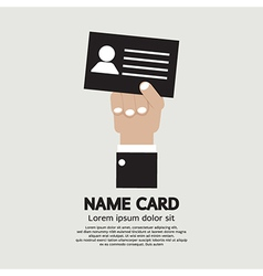Hand Holding Name Card vector image vector image
