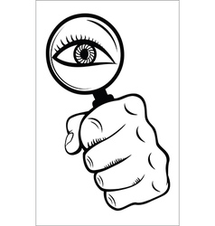 Magnifying Glass with Eye vector image vector image