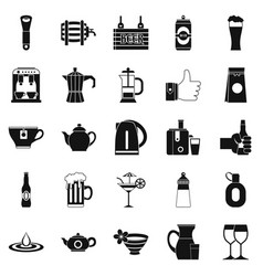 malt icons set simple style vector image