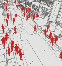 street vector image vector image