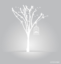 background abstract tree vintage vector image