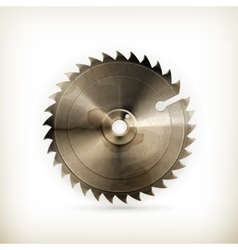 Circular saw blade old style vector image