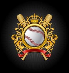 coat of arms baseball symbol vector image vector image
