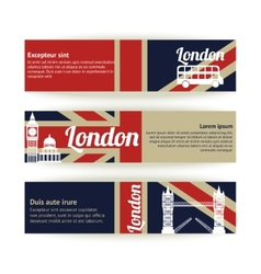 Collection of banners and ribbons with London vector image
