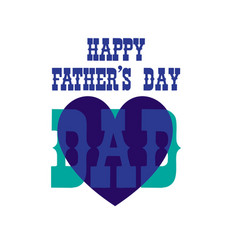 fathers day blue heart vector image vector image