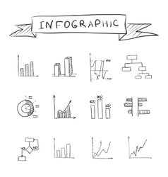 Business doodle graphs vector image vector image