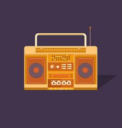 cassette tape recorder vector image