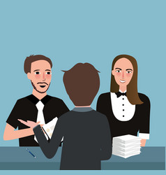 consultant talking meeting planning together two vector image