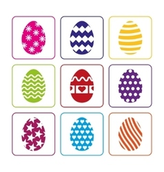 Easter eggs set on a white background vector image