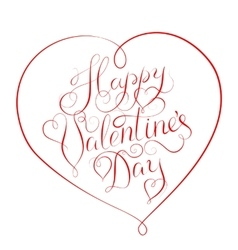 Happy Valentines Day - calligraphy lettering vector image vector image