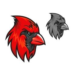 Red cardinal bird in cartoon style vector image