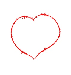Scrawled Heart vector image vector image