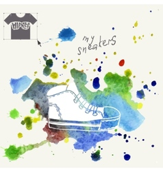 Sneakers Fashion Background vector image vector image