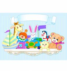toy shelf vector image vector image