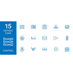 15 control icons vector