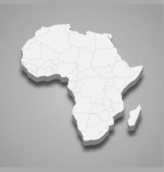 3d map africa vector