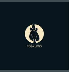 abstract woman yoga symbol logo vector image