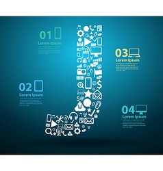 Application icons alphabet letters j design vector