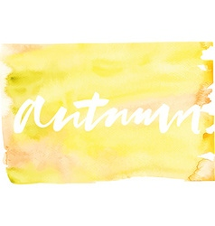 Autumn Abstract background Watercolor vector