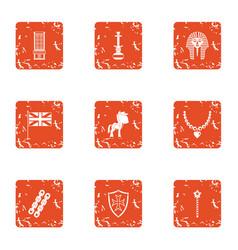 babyhood icons set grunge style vector image