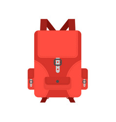 backpack isolated knapsack on white background vector image