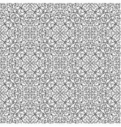 black and white doodle lace pattern vector image