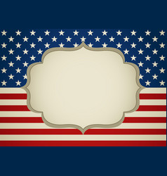 Blank frame on america insignia vector