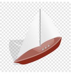 boat isometric icon vector image