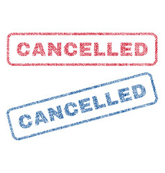 Cancelled textile stamps vector