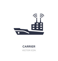 Carrier icon on white background simple element vector