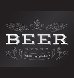 chalk beer emblem vector image