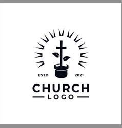 church logo design inspiration idea concept vector image
