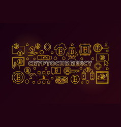 Cryptocurrency golden vector