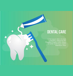 Dental care conceptual design template vector