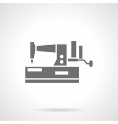 Domestic sewing machine glyph style icon vector